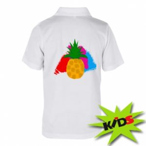 Children's Polo shirts Pineapple on a bright background