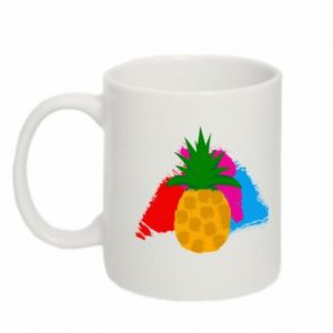 Mug 330ml Pineapple on a bright background