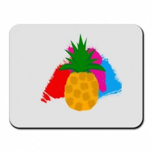 Mouse pad Pineapple on a bright background