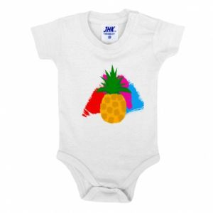 Baby bodysuit Pineapple on a bright background