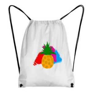 Backpack-bag Pineapple on a bright background