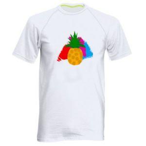 Męska koszulka sportowa Ananas na jasnym tle