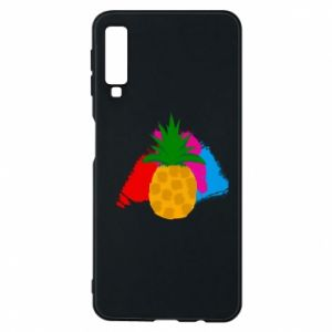 Phone case for Samsung A7 2018 Pineapple on a bright background