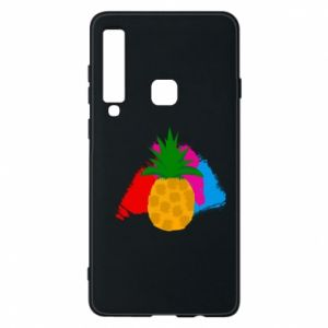 Phone case for Samsung A9 2018 Pineapple on a bright background