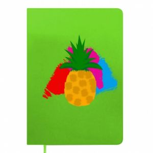 Notepad Pineapple on a bright background