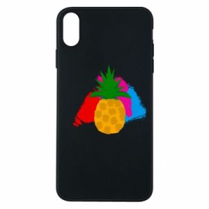 iPhone Xs Max Case Pineapple on a bright background