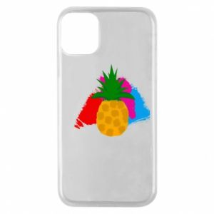 Phone case for iPhone 11 Pro Pineapple on a bright background