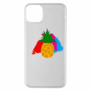 Phone case for iPhone 11 Pro Max Pineapple on a bright background