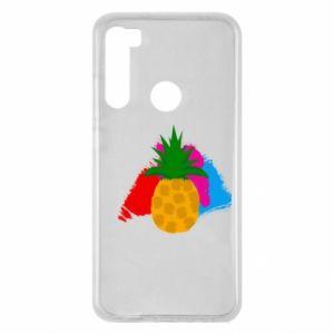 Xiaomi Redmi Note 8 Case Pineapple on a bright background