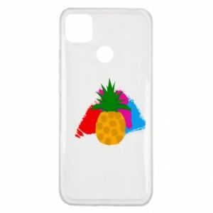 Xiaomi Redmi 9c Case Pineapple on a bright background