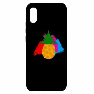 Xiaomi Redmi 9a Case Pineapple on a bright background