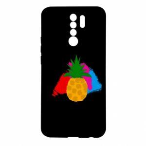 Xiaomi Redmi 9 Case Pineapple on a bright background