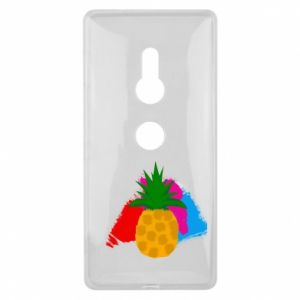 Sony Xperia XZ2 Case Pineapple on a bright background