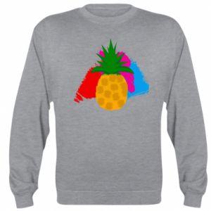 Sweatshirt Pineapple on a bright background
