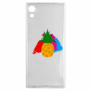 Sony Xperia XA1 Case Pineapple on a bright background