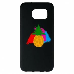 Samsung S7 EDGE Case Pineapple on a bright background