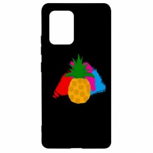 Samsung S10 Lite Case Pineapple on a bright background