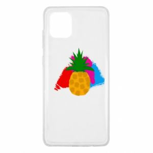 Samsung Note 10 Lite Case Pineapple on a bright background