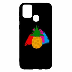 Samsung M31 Case Pineapple on a bright background