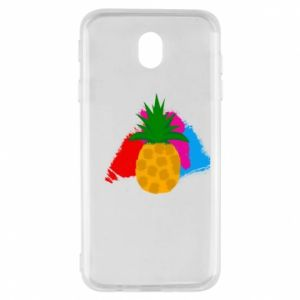Samsung J7 2017 Case Pineapple on a bright background