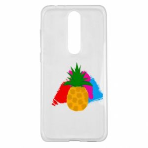 Nokia 5.1 Plus Case Pineapple on a bright background