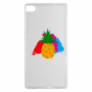 Huawei P8 Case Pineapple on a bright background
