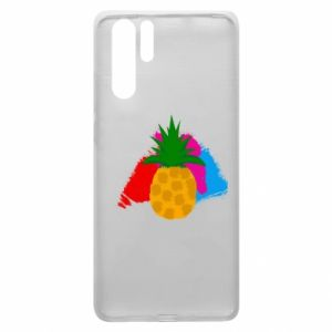 Huawei P30 Pro Case Pineapple on a bright background