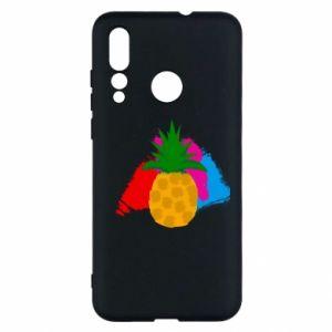 Huawei Nova 4 Case Pineapple on a bright background