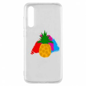 Huawei P20 Pro Case Pineapple on a bright background