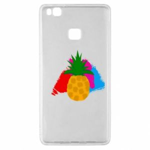 Huawei P9 Lite Case Pineapple on a bright background