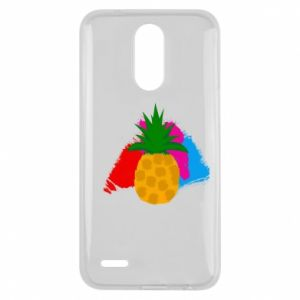 Lg K10 2017 Case Pineapple on a bright background