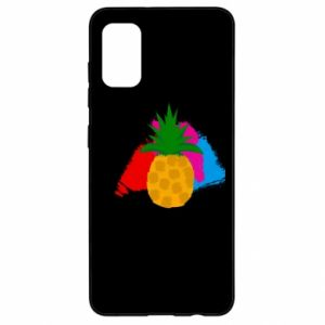 Samsung A41 Case Pineapple on a bright background