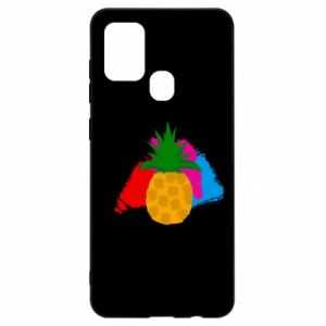 Samsung A21s Case Pineapple on a bright background