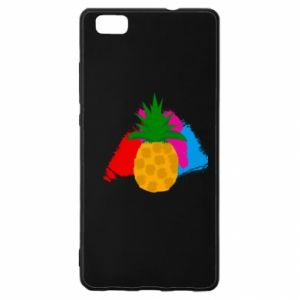 Huawei P8 Lite Case Pineapple on a bright background
