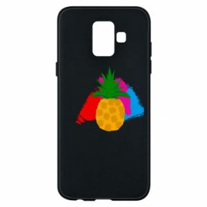 Phone case for Samsung A6 2018 Pineapple on a bright background