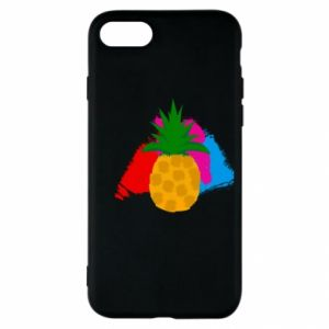 iPhone SE 2020 Case Pineapple on a bright background