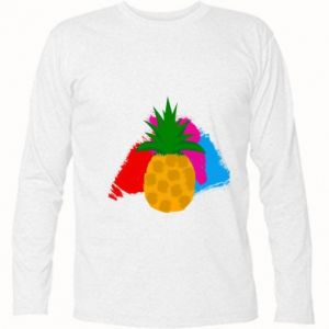 Long Sleeve T-shirt Pineapple on a bright background