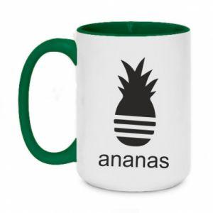 Kubek dwukolorowy 450ml Ananas
