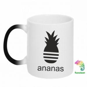 Kubek-kameleon Ananas