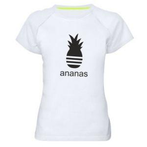 Damska koszulka sportowa Ananas
