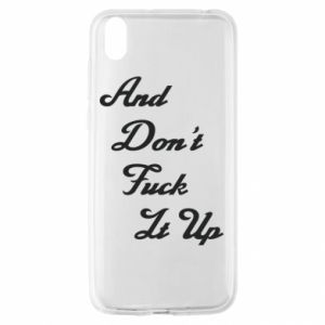 Etui na Huawei Y5 2019 And don't fuck it up