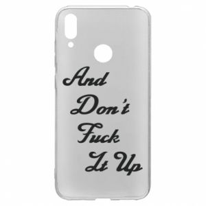 Etui na Huawei Y7 2019 And don't fuck it up