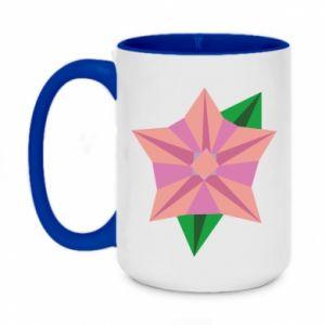 Two-toned mug 450ml Angle Flower Abstraction