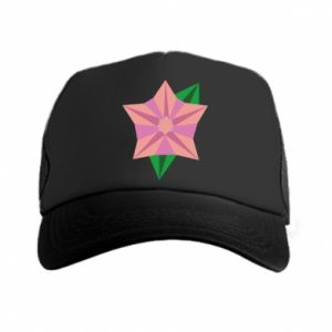 Trucker hat Angle Flower Abstraction - PrintSalon
