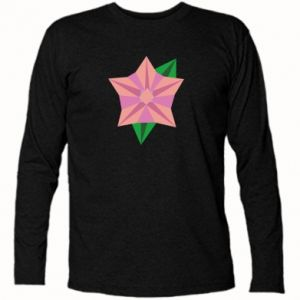 Long Sleeve T-shirt Angle Flower Abstraction - PrintSalon