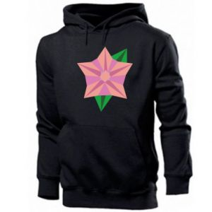Men's hoodie Angle Flower Abstraction - PrintSalon