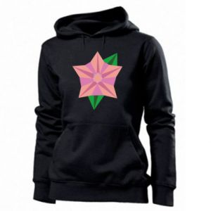 Women's hoodies Angle Flower Abstraction - PrintSalon