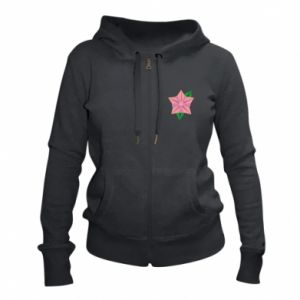 Women's zip up hoodies Angle Flower Abstraction - PrintSalon