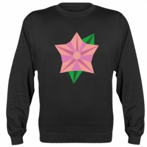 Sweatshirt Angle Flower Abstraction - PrintSalon