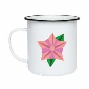 Enameled mug Angle Flower Abstraction - PrintSalon
